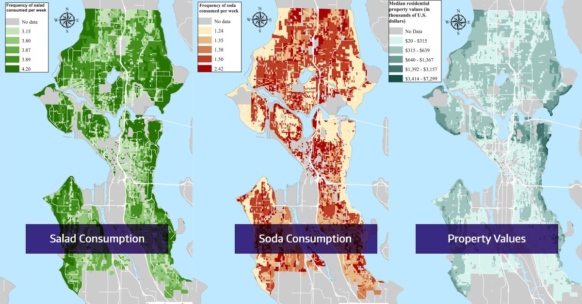 Salad, soda and socioeconomic status: Mapping a social determinant of health in Seattle