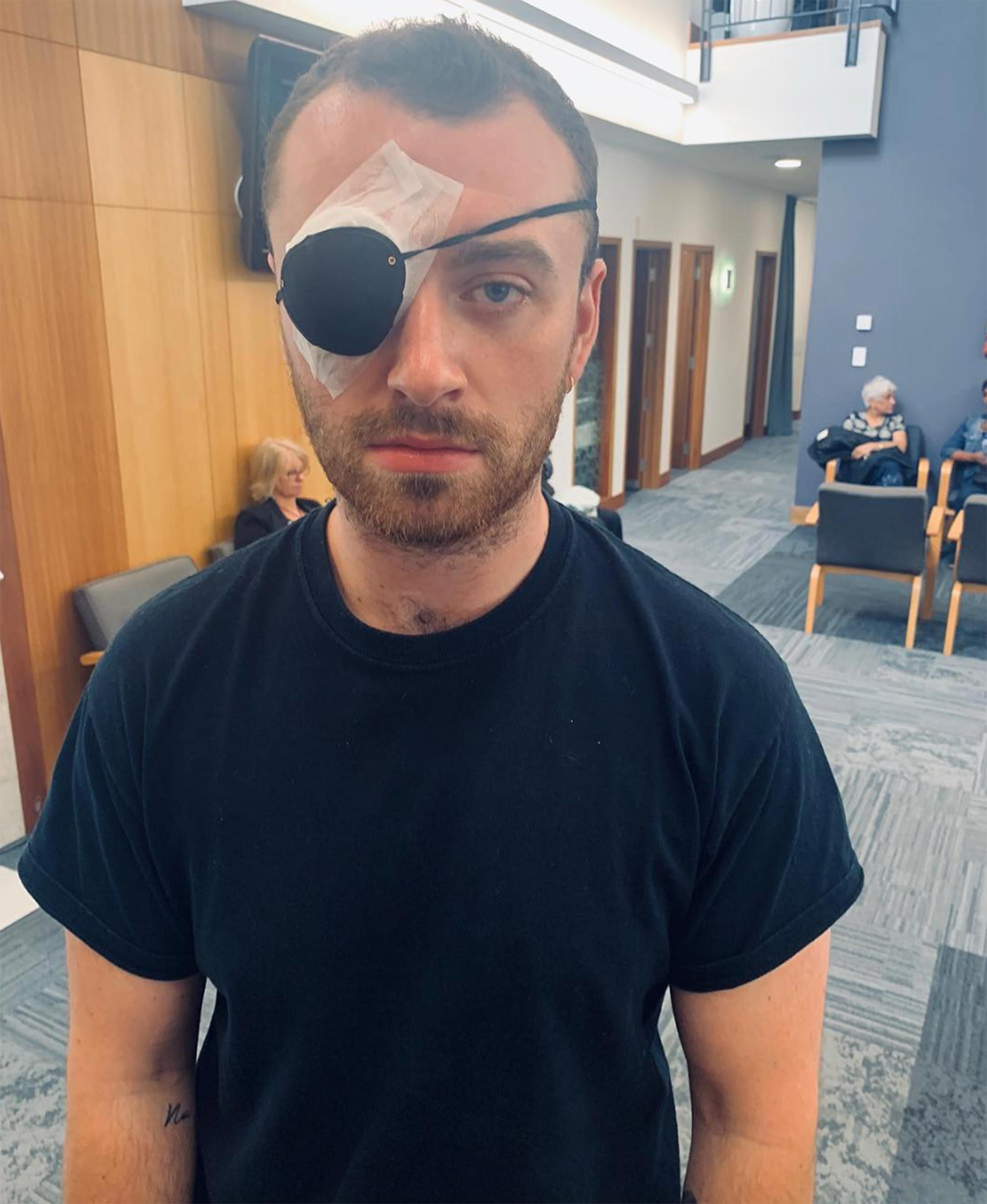 Sam Smith Jokes About Eye Infection Surgery: 'Stye with Me'