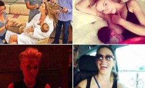 Celeb Moms Share Breast-Feeding Pictures
