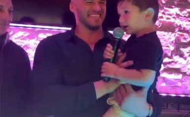 See Jenni 'JWoww' Farley's Son Greyson, 3, Take the Mic While Being Held by Mom's Boyfriend