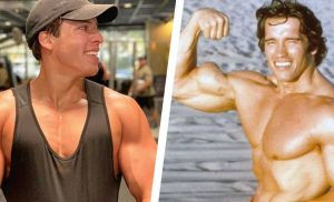 Schwarzenegger's Son Shows Off Arnold-Level Chest Gains