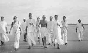 Staff in hand, the Mahatma walked every day of his life…