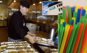 The NHS will slash the use of plastic in hospital canteens