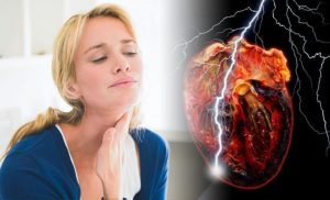 Heart attack warning – a feeling in your throat could signal your risk of the condition