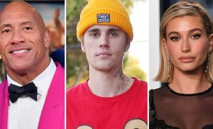 The Rock Says Justin Bieber and Hailey Baldwin Will 'Have a Baby in 2021'