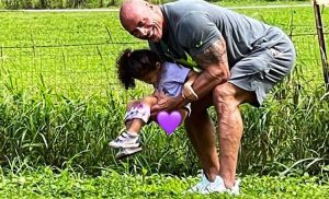 Dwayne Johnson Shares Hilarious Photo of Daughter Tiana Peeing 'All Over' His 'New White Sneakers'