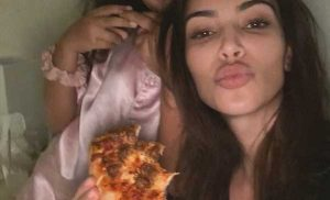 Kim Kardashian Enjoys a Pizza Party with Her Oldest Children North and Saint