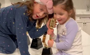 Kevin Jonas' Daughters Valentina and Alena Pretend to be Jonas Brothers in Adorable Video