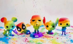 Funko Pop!'s Rainbow Pride Collection Includes All Your Kid's Favorite Disney Characters & You Can Get Them on Amazon